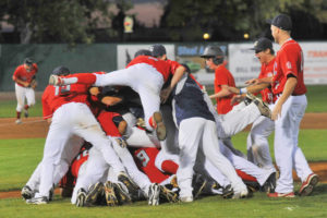 The Gate City Grays celebrate after winning their second NUL Championship.