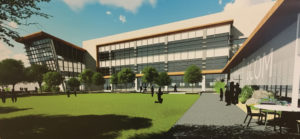 An rendering of the new Idaho College of Osteopathic Medicine.